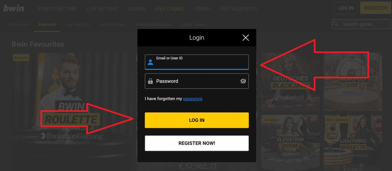 Detailed Bwin login mobile instructions on how to register on this platform