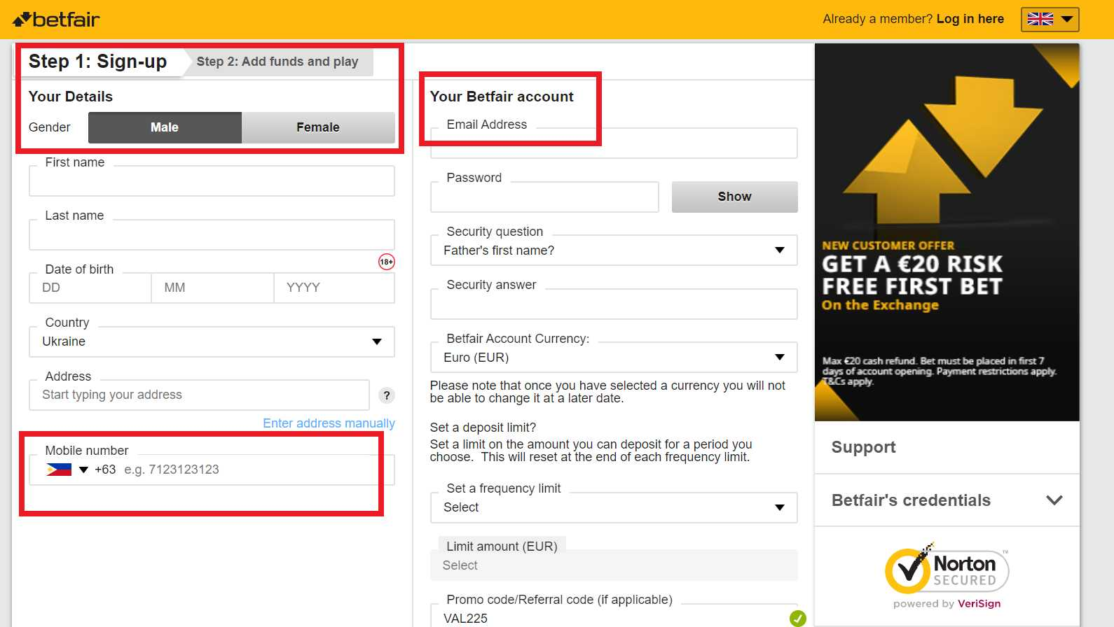 Nazz Betfair sign up offer: The most magnetic of beings now!