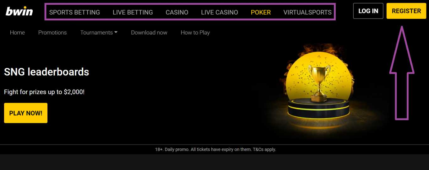 Key rules for receiving Bwin promo code reward