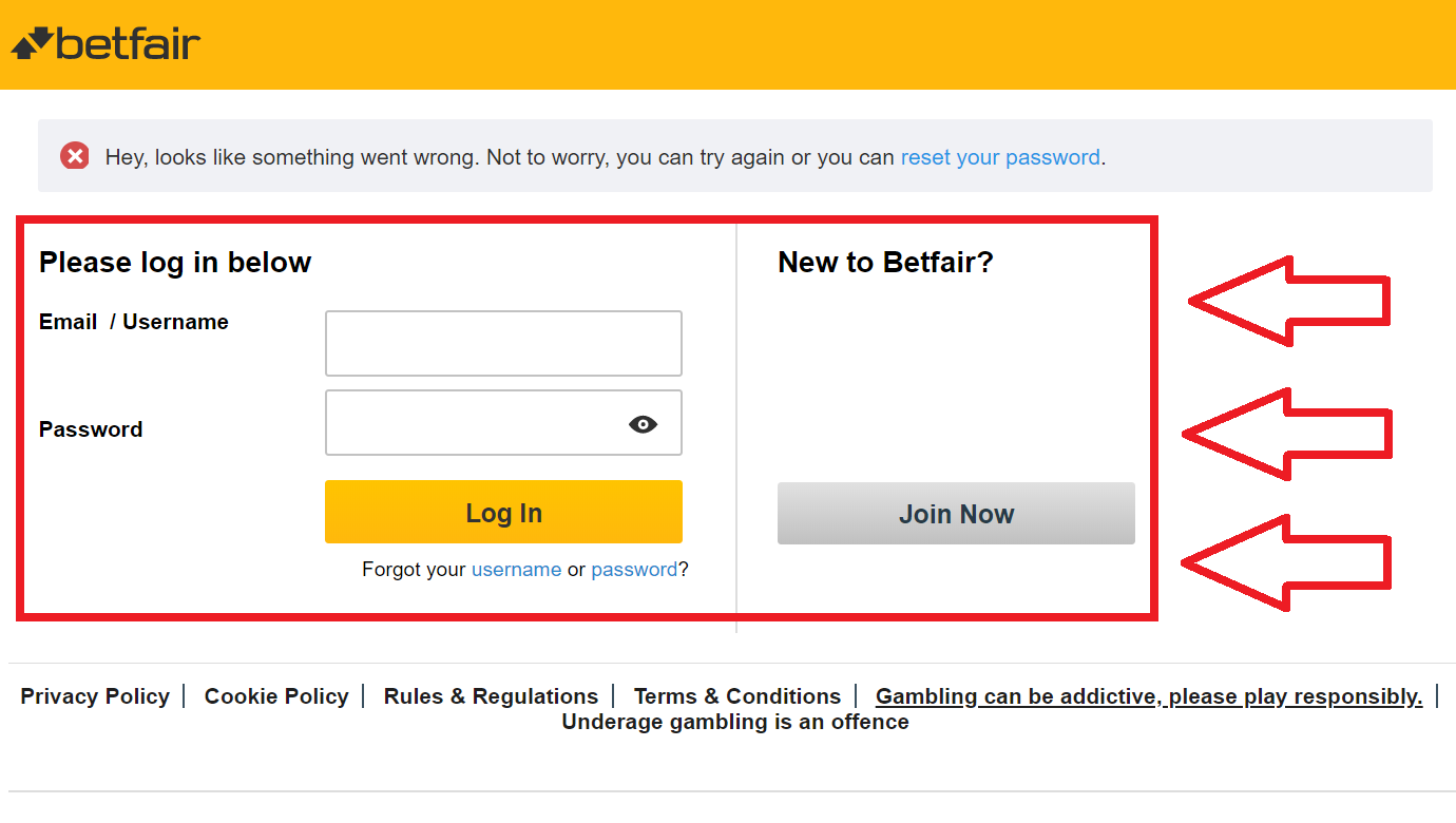 Basic conditions for receiving a Betfair casino welcome bonus